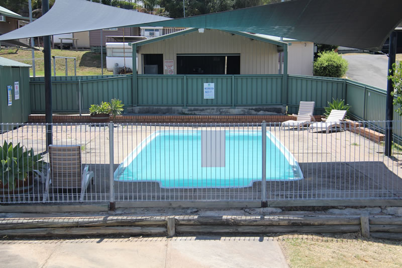 Pool close to BBQ area